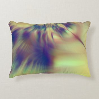 Golden Confusion Fractal Accent Pillow