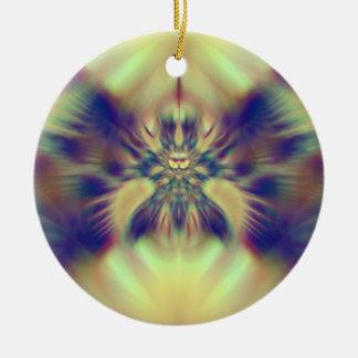Golden Confusion Fractal Ceramic Ornament