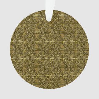Golden Connected Ovals Celtic Pattern