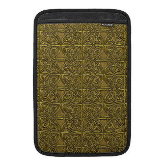 Golden Connected Ovals Celtic Pattern Sleeves For MacBook Air