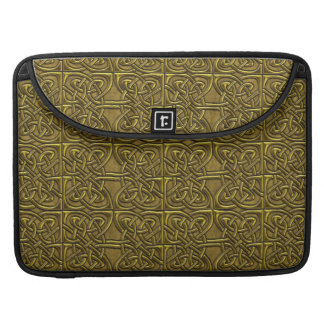 Golden Connected Ovals Celtic Pattern Sleeve For MacBooks