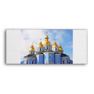 Golden copes of in cathedral in Kiev Envelope