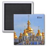 Golden copes of in cathedral in Kiev, Kiev 2 Inch Square Magnet