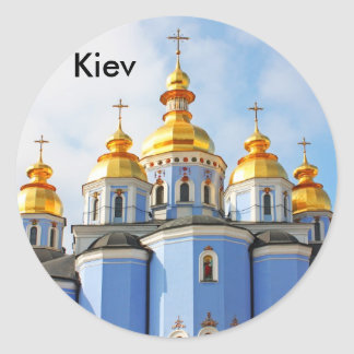 Golden copes of in cathedral in Kiev, Kiev Classic Round Sticker