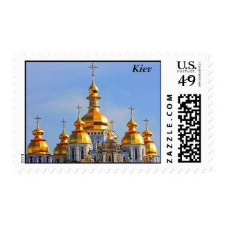 Golden copes of in cathedral in Kiev, Kiev Stamp