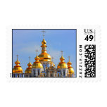 Golden copes of in cathedral in Kiev Postage