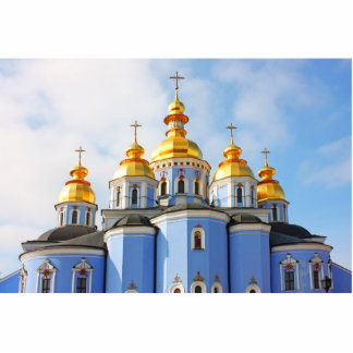 Golden copes of in cathedral in Kiev Standing Photo Sculpture