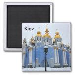 Golden copes of in cathedral in Kiev taken in s... Magnets