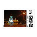 Golden copes of in cathedral in Kiev taken in spri Postage Stamp