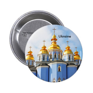 Golden copes of in cathedral in Kiev, Ukraine Pinback Buttons