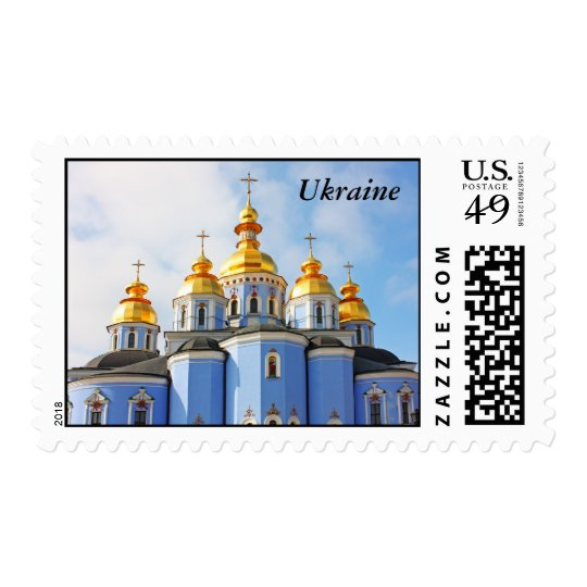 Golden copes of in cathedral in Kiev, Ukraine Postage