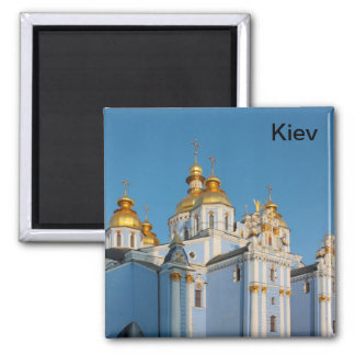 Golden copes of st. Michael in cathedral in Kiev Magnet