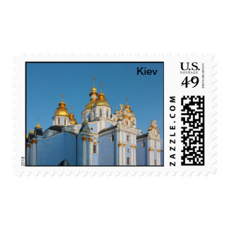 Golden copes of st. Michael in cathedral in Kiev Postage