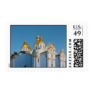 Golden copes of st. Michael in cathedral in Kiev t Stamps