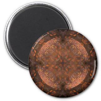 Golden Copper Shimmer 2 Inch Round Magnet