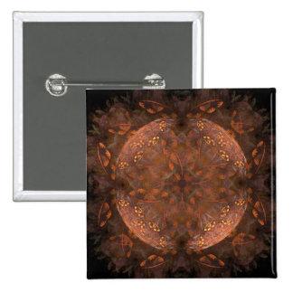 Golden Copper Shimmer Button