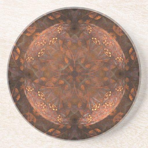 Golden Copper Shimmer Drink Coasters