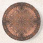 Golden Copper Shimmer Drink Coaster