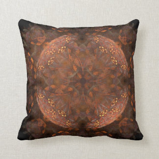 Golden Copper Shimmer Throw Pillow
