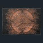 """Golden Copper Shimmer Towel<br><div class=""""desc"""">digital art in browns orange and black.</div>"""