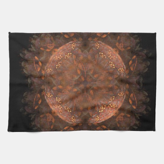 Golden Copper Shimmer Towel