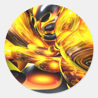 Golden Cosmos Abstract Sticker