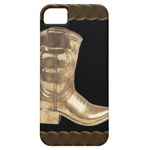 Golden Cowboy Boot & Rope HTC Vivid / Raider 4G Case