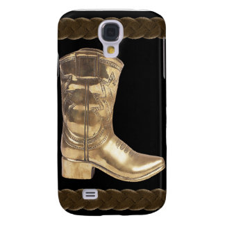 Golden Cowboy Boot & Rope Samsung Galaxy S4 Cover