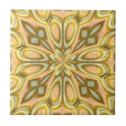 Golden Crazy Daisy Tiles