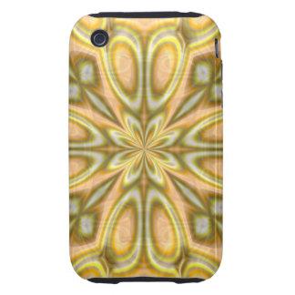 Golden Crazy Daisy Tough iPhone 3 Cover