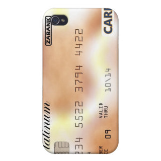 golden Credit Card Cover For iPhone 4