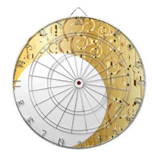 Golden Crescent Moon Dartboard With Darts