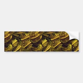 Golden crinoid arms bumper sticker