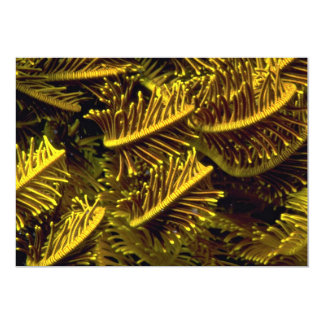 Golden crinoid arms 5x7 paper invitation card