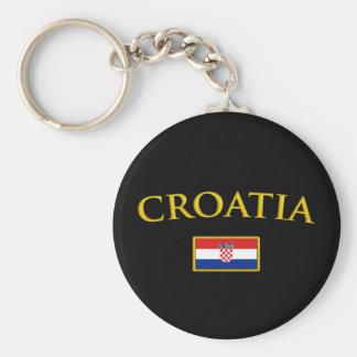 Golden Croatia Keychain