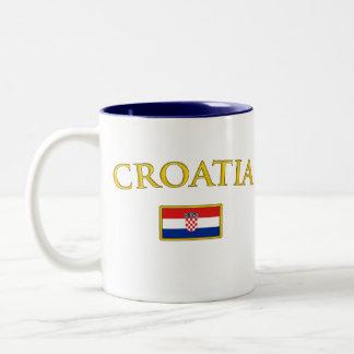 Golden Croatia Two-Tone Coffee Mug