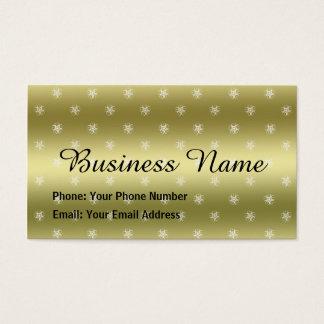 Golden Crop Circle Business Card