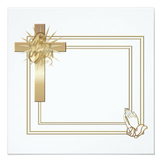 Praying Hands Invitations Amp Announcements Zazzle