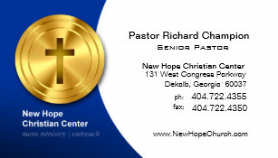 Pastor business cards templates zazzle golden cross christian symbol ministerpastor business card colourmoves