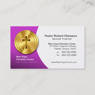 Church pastor minister gold cross elegant leather business card church pastor minister gold cross elegant leather business card zazzle colourmoves