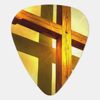 Golden Cross Guitar Pick by ReligiousBeliefs at Zazzle