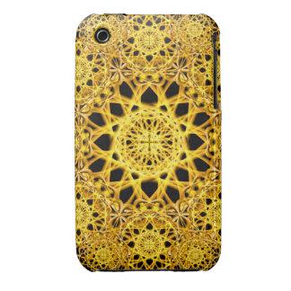 Golden Cross Mandala iPhone 3 Cover