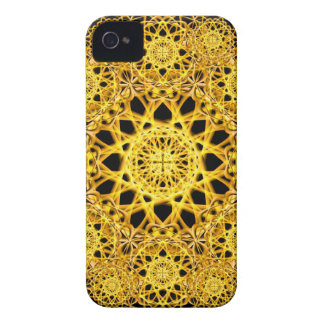 Golden Cross Mandala iPhone 4 Case