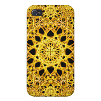 Golden Cross Mandala iPhone 4 Cover