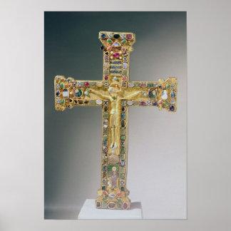 Golden cross of Essen Print