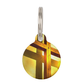 Golden Cross Pet Tag