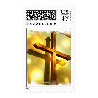 Golden Cross Postage Stamp