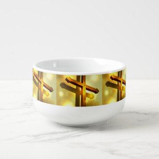 Golden Cross Soup Mug