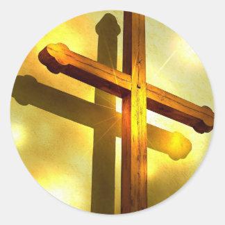 Golden Cross Stickers