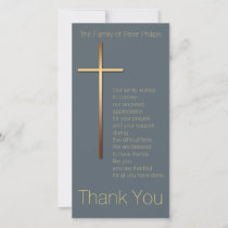 Golden Cross Sympathy Thank You Choose Color 1
